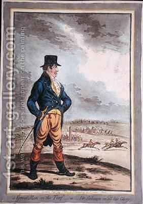 A Great Man at the Turf or Sir Solomon in all his Glory by James Gillray - Reproduction Oil Painting