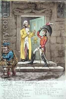 A hint to Young Officers by James Gillray - Reproduction Oil Painting