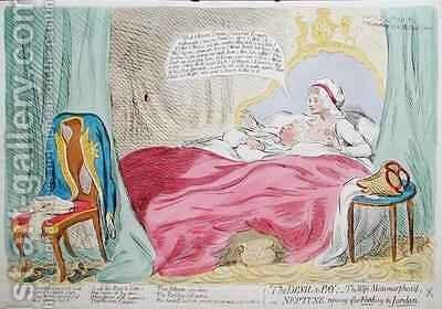 The Devil to Pay The Wife Metamorphosd or Neptune Reposing after Fording the Jordan by James Gillray - Reproduction Oil Painting