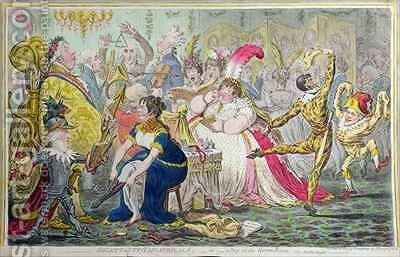 A March to the Bank 2 by James Gillray - Reproduction Oil Painting