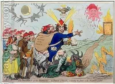The Prophet of the Hebrews the Prince of Peace conducting the Jews to the Promised Land by James Gillray - Reproduction Oil Painting