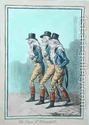 The Three Mr Wigginss by James Gillray - Reproduction Oil Painting
