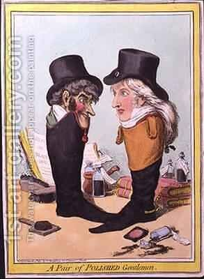 A Pair of Polished Gentlemen by James Gillray - Reproduction Oil Painting
