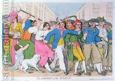The Liberty of the Subject by James Gillray - Reproduction Oil Painting