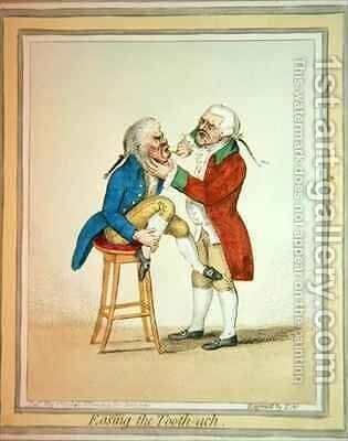 Easing the Tooth ach by James Gillray - Reproduction Oil Painting