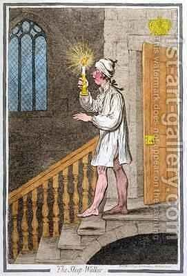 The Sleep Walker by James Gillray - Reproduction Oil Painting