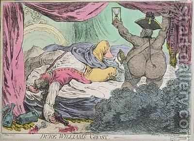Duke Williams Ghost by James Gillray - Reproduction Oil Painting