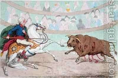 The Royal Bull Fight by James Gillray - Reproduction Oil Painting