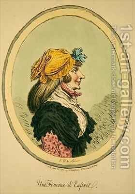 Une Femme dEsprit by James Gillray - Reproduction Oil Painting