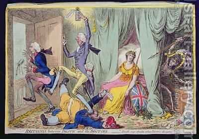 Britannia between Death and the Doctors by James Gillray - Reproduction Oil Painting