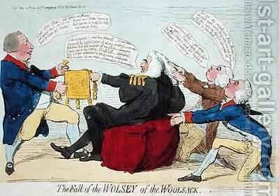 The Fall of the Wolsey of the Woolsack by James Gillray - Reproduction Oil Painting