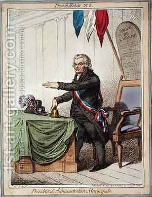 President dAdministration Municipale by James Gillray - Reproduction Oil Painting