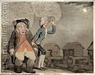 John Bull Botherd or The Geese alarming the Capitol by James Gillray - Reproduction Oil Painting