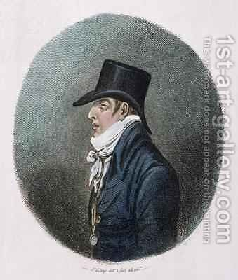 A portrait by James Gillray - Reproduction Oil Painting