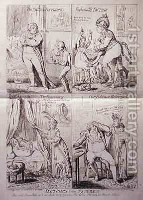 Sketches from Nature by James Gillray - Reproduction Oil Painting