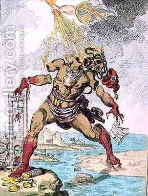 Destruction of the French Colossus 2 by James Gillray - Reproduction Oil Painting