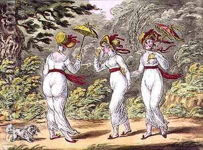 The Graces in a High Wind a Scene taken from Nature in Kensington Gardens by James Gillray - Reproduction Oil Painting
