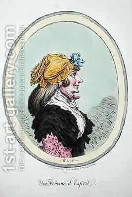 A Woman with Spirit by James Gillray - Reproduction Oil Painting