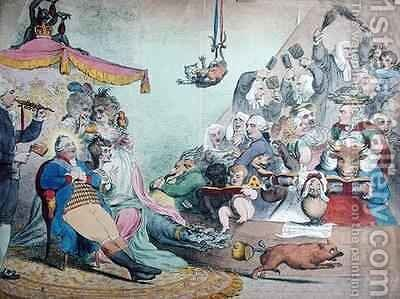 Ancient Music by James Gillray - Reproduction Oil Painting