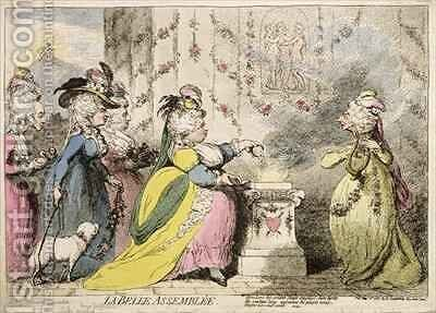 La Belle Assemblee by James Gillray - Reproduction Oil Painting