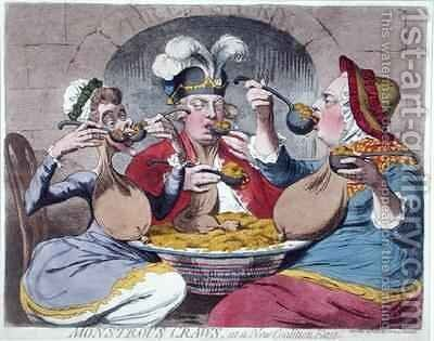 Monstrous Craws at a New Coalition Feast by James Gillray - Reproduction Oil Painting
