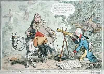 Begging no Robbery ie Voluntary Contribution or John Bull escaping a Forced Loan by James Gillray - Reproduction Oil Painting
