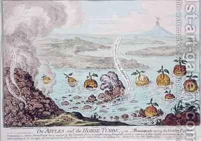 The Apples and the Horse Turds or Buonaparte Among the Golden Pippins by James Gillray - Reproduction Oil Painting