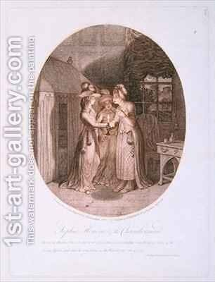 Sophia Honour and the Chambermaid scene from Tom Jones by James Gillray - Reproduction Oil Painting