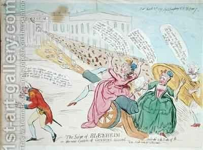 The Siege of Blenheim or The new system of Gunning discovered by James Gillray - Reproduction Oil Painting