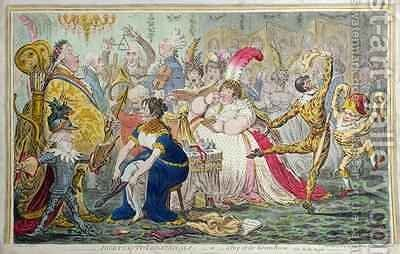 Dilettanti Theatricals or A Peep at the Green Room by James Gillray - Reproduction Oil Painting