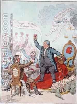 The Loyal Toast by James Gillray - Reproduction Oil Painting