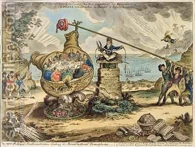 Political Mathemematicians Shaking the Broadbottomd Hemisphere by James Gillray - Reproduction Oil Painting