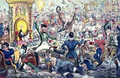 The Union Club 6 by James Gillray - Reproduction Oil Painting