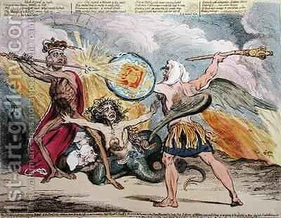 Sin Death and the Devil by James Gillray - Reproduction Oil Painting
