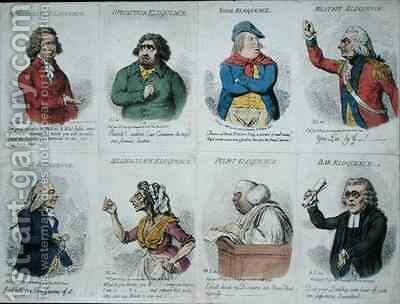 8 vignettes depicting eloquence by James Gillray - Reproduction Oil Painting