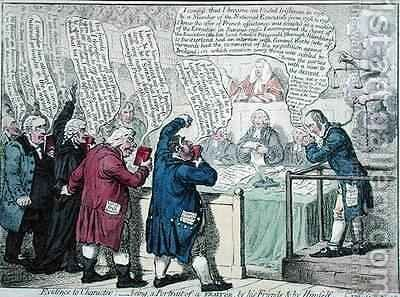 Evidence to Character being a Portrait of a Traitor by James Gillray - Reproduction Oil Painting