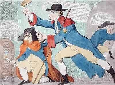 Guy Vaux discovered in the attempt to destroy the King and the House of Lords by James Gillray - Reproduction Oil Painting