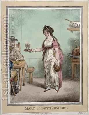 Mary of Buttermere sketched from life in July 1800 by James Gillray - Reproduction Oil Painting