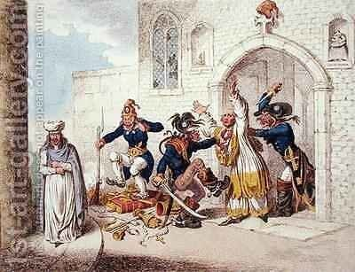Consequences of a Successful French Invasion or We Fly on the Wings of the Wind to Save the Irish Catholics from Persecution by James Gillray - Reproduction Oil Painting