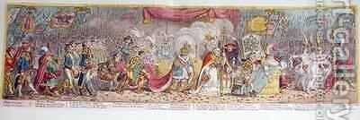 The Grand Coronation Procession of Napoleon the 1st Emperor of France from the Church of Notre Dame by James Gillray - Reproduction Oil Painting