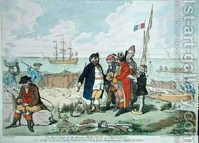 The Real Cause of the Present High Price of Provisions by James Gillray - Reproduction Oil Painting