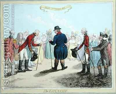 The Esplanade by James Gillray - Reproduction Oil Painting