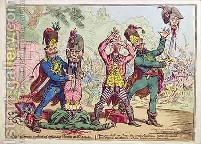 The High German Method of destroying Vermin at Rat Stadt by James Gillray - Reproduction Oil Painting