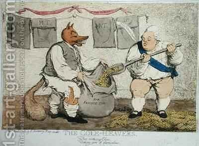 The Cole Heavers by James Gillray - Reproduction Oil Painting