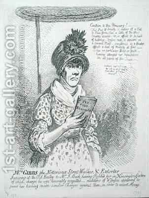 Mrs Gibbs the Notorious Street Walker and Extorter by James Gillray - Reproduction Oil Painting