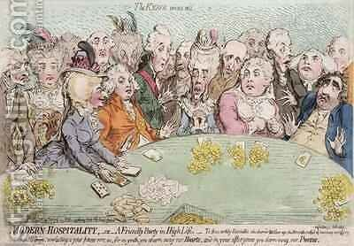 Modern Hospitality or A Friendly Party in High Life by James Gillray - Reproduction Oil Painting