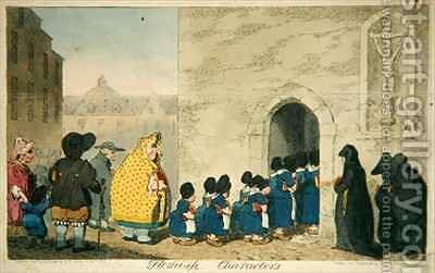 Flemish Characters by James Gillray - Reproduction Oil Painting