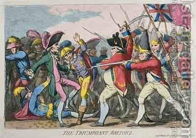 The Triumphant Britons by James Gillray - Reproduction Oil Painting