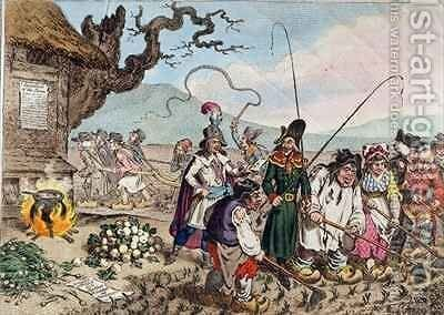 Consequences of a Successful French Invasion or We teach de English Republicans to work by James Gillray - Reproduction Oil Painting