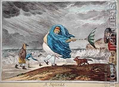 A Squall by James Gillray - Reproduction Oil Painting